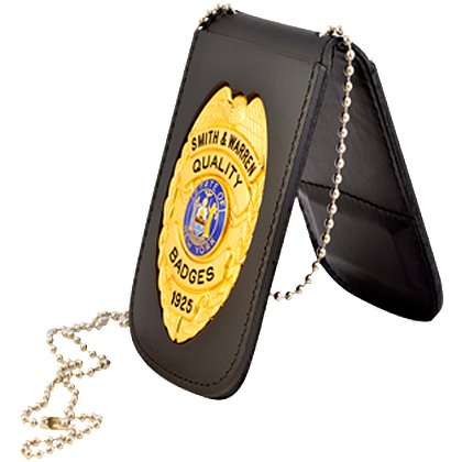 Smith & Warren Recessed Badge & ID Holder w/Chain