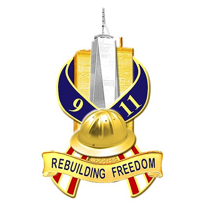 Blackinton 9-11 Rebuilding Freedom Pin