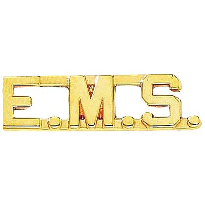 Blackinton: Small E.M.S. Letter Combination Pin