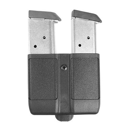 BlackHawk CQC CF Double Row Mag Case Matte Finish Black, Fits all Single Stack Mags