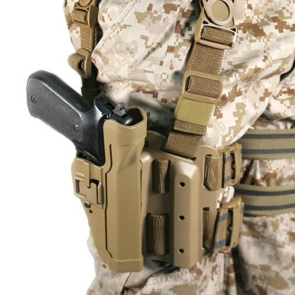 Blackhawk CQC Tactical SERPA Holster, Black