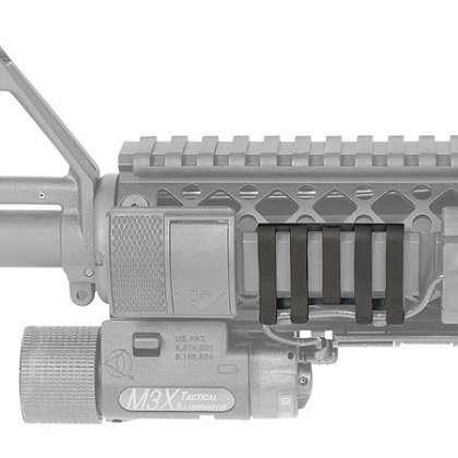 BlackHawk: Low Profile Rail Cover w/Wire Loom 5 Slot