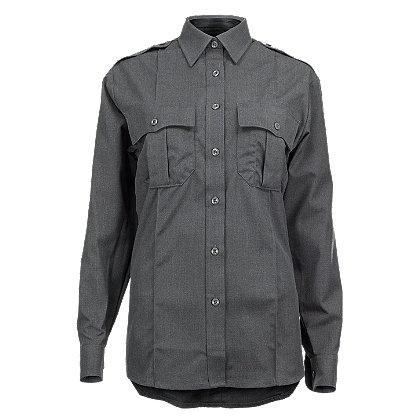 Blauer Women's ClassAct Heather Long Sleeve Rayon Blend Shirt, Grey