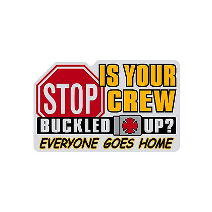 TheFireStore Buckle Up Reminder Decal with Stop Sign, Reflective, 6