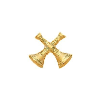 Smith & Warren: Hat/Shield Medallion, 2 Crossed Bugles, Di-Cut
