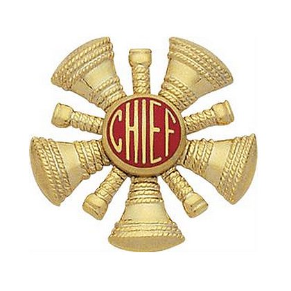 Smith & Warren Hat/Shield Medallion, 5 Crossed Bugles w/Chief in Center, Di-Cut