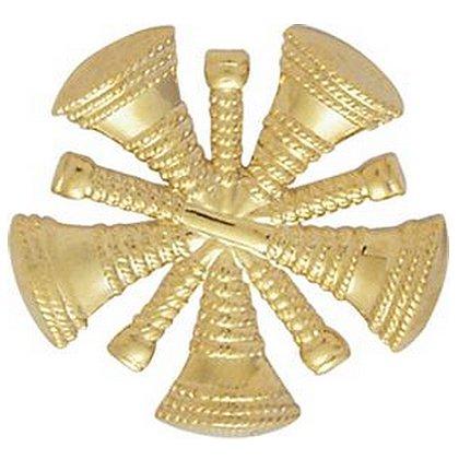 Smith & Warren: Hat/Shield Medallion, 5 Crossed Bugles, Di-Cut