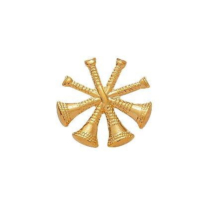 Smith & Warren: Hat/Shield Medallion, 4 Crossed Bugles, Di-Cut