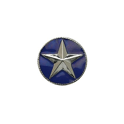 Collar Insignia Silver Star with Blue Enamel