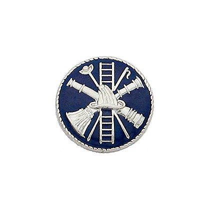 Smith & Warren Collar Insignia, Firefighter Scramble w/Blue Enamel