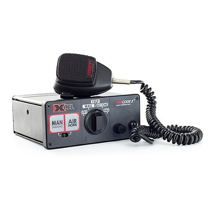 Code 3: Xcel™ Siren with Hard-Wired Mic, 12v