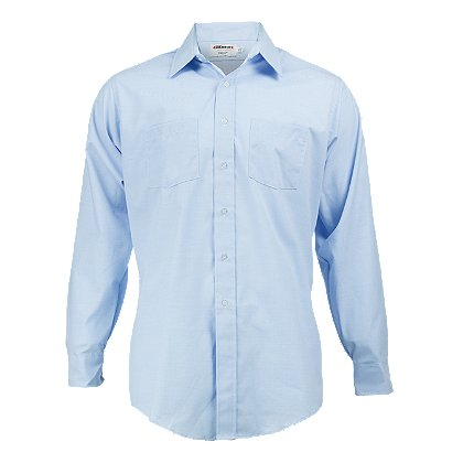 Elbeco Men's Long Sleeve Express Dress Shirt, Light Blue