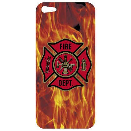 TheFireStore iPhone 5 Decal, Red Maltese Cross & Flame Background
