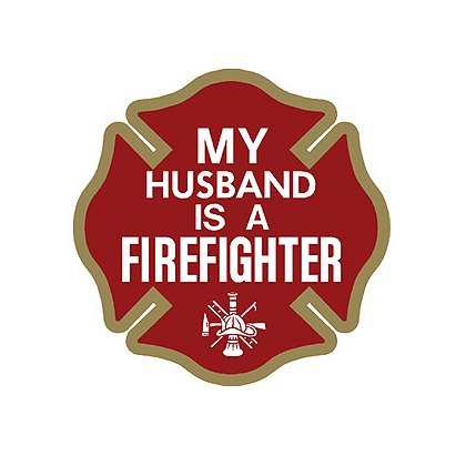 TheFireStore My Husband is a Firefighter Maltese Cross Decal, 4