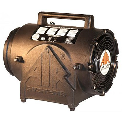 Air Systems Contractor Explosion-Proof Canister Fan, CVF-8EXP Fan, 115 VAC, 1/4 HP 25' Conductive Duct