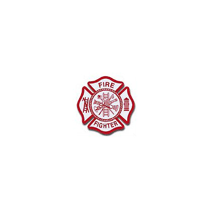 TheFireStore Maltese Cross Reflective Die-Cut Firefighter Decal
