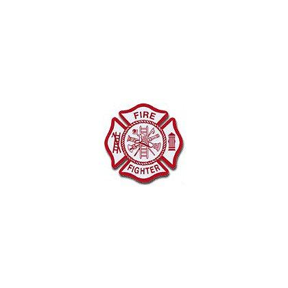 TheFireStore: Maltese Cross Reflective Die-Cut Firefighter Decal