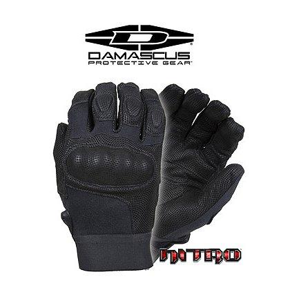 Damascus NITRO, Kevlar Tactical Gloves, Carbon Tek Knuckles, Black
