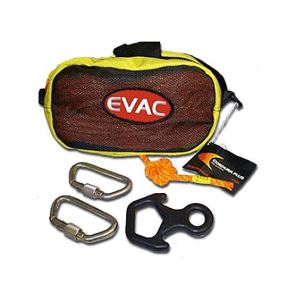 EVAC Systems: Bail-Out Bag Kit, 50ft Rope, 2 Carabiners, 1 Descender