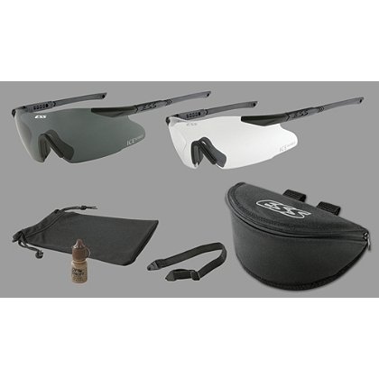 ESS ICE Naro 2-Pack with 1 Clear Lens, 1 Smoke Lens