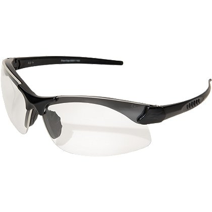 Edge Tactical: Sharp Edge Matte Black Thin Temple Frame with Clear Lens