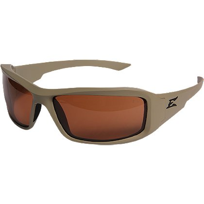 Edge Tactical Hamel Matte Sand Thin Temple Frame with Polarized Copper Lens