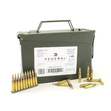 Federal Cartridge Co. 5.56 x 45mm NATO 62 Grain XM855 Full Metal Jacket Green Tip, 420 Rounds