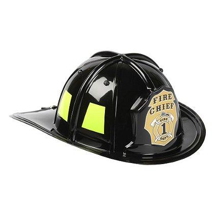 AeroMax: Jr. Firefighter Helmet, Plastic, Black