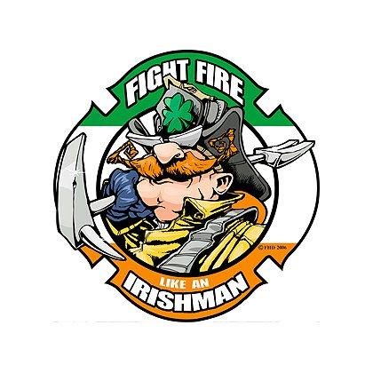 TheFireStore Fight Fire Like An Irishman Reflective Decal