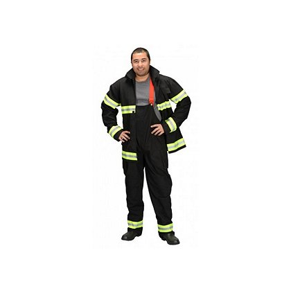 AeroMax Adult Costume Firefighter Gear, Pants, Coat, & Suspenders