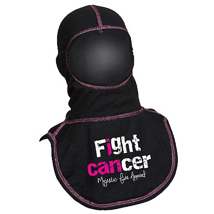 Majestic PAC II I Can Black Hood with Pink Thread, Certified NFPA 1971-2013