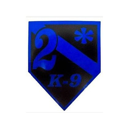 FrontLine Designs, LLC: Blue Line 2* K-9 Sticker