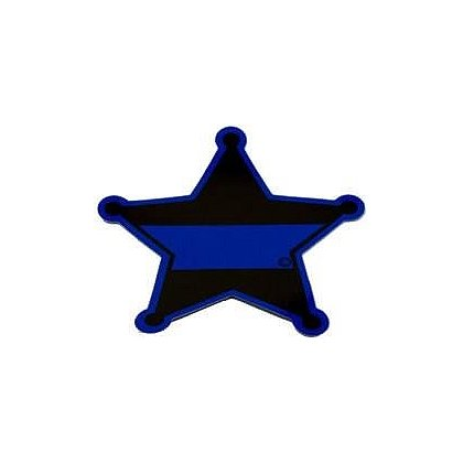 FrontLine Designs, LLC Blue Line 5 Point Star Sticker