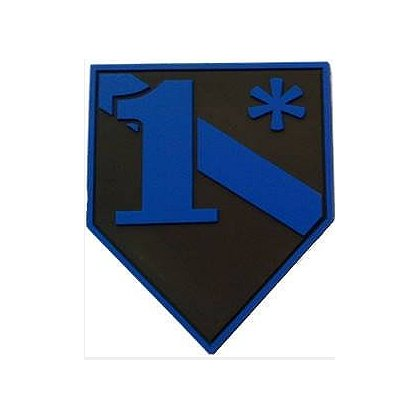 FrontLine Designs, LLC Blue Line 1* PVC Patch with Velcro