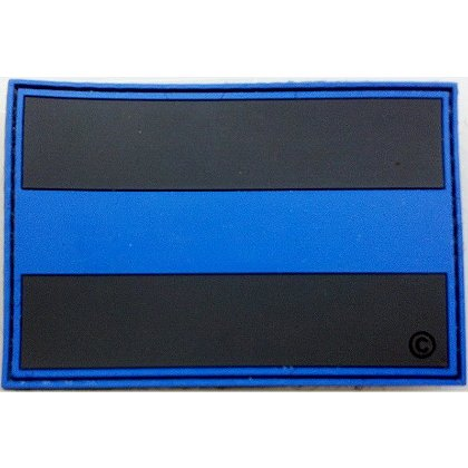 FrontLine Designs, LLC: Blue Line PVC Patch, with Velcro