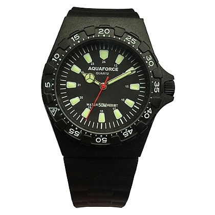 Frontier Aquaforce Tactical Analog Field Watch, Black