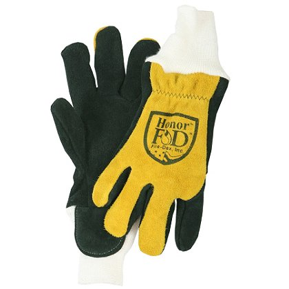 FireDex: Honor Glove, Knitwrist, Cowhide/Elk, X-Small, Standard Fit