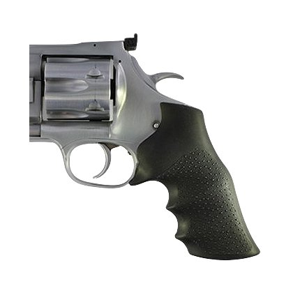 Hogue: Dan Wesson Large Frame (Round Tang) Black Rubber Monogrip