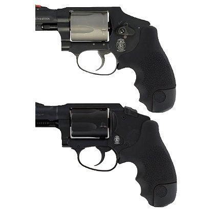 Hogue: S&W J Frame Round Butt Centennial/Polymer Black Bodyguard Rubber Tamer Grip