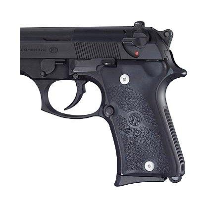 Hogue Beretta 92 Compact Auto Black Rubber grip Panels