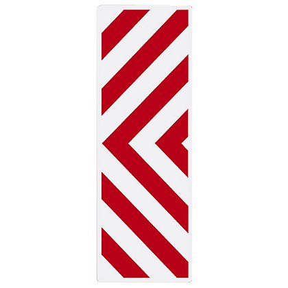 TheFireStore Inside Apparatus Compartment Decal, Red & White Chevron Stripes, Right or Left