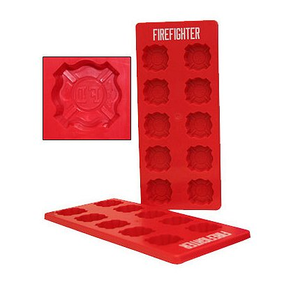 TheFireStore: Ice Cube Trays with Maltese Cross or Badge Molds