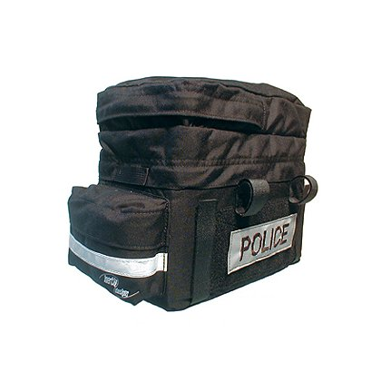 Inertia Designs Police (PV) Bike Rack Trunk w/ Pockets & VELCRO® brand Patches