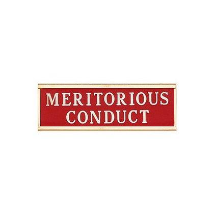 Blackinton Commendation Bar: Meritorious Conduct