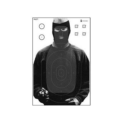LET, Inc Multi-Purpose Target with Q, B-27 & Sniper Scoring, 50ct