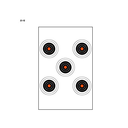 LET, Inc 5 Bullseye Training Target with Orange Centers, 50ct