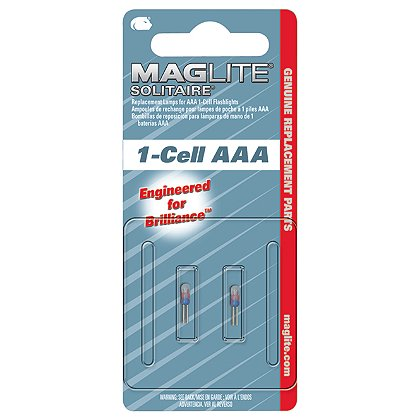 Maglite Solitare AAA Flashlight Replacement High Intensity Bi-Pin Lamps, 2-Pack