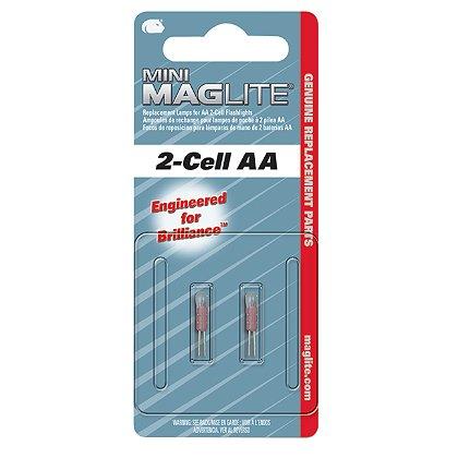Maglite: Mini Maglite AA Flashlight Replacement Xenon Lamps, 2-Pack