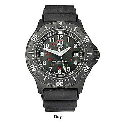Luminox: Black SEAL Watch, Black Dial, Polyurethane Strap
