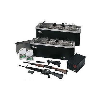L&R Ultrasonics: LE-236 Dual Tank Weapon Cleaning System, Complete Set-up with SweepZone Technology